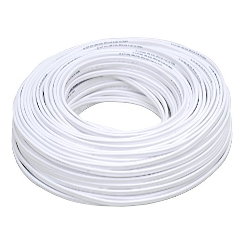 Surtek 136955 Cable POT CCA 2×18, color Blanco, 100 m