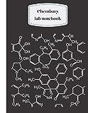 "chemistry lab notebook: LARGE 8.5""x11"" (21.59x27.94cm, chemistry notebook hexagonal, labor notizbücher, cuaderno de laboratorio de química, quaderno di chimica, 化学 ノート"