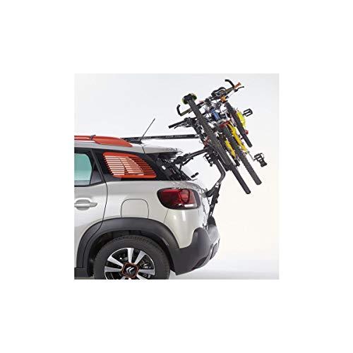 Mottez A016P3 fietsendrager op achterklep, bevestiging aan dakdragers of railstang voor 3 fietsen met diefstalbeveiliging