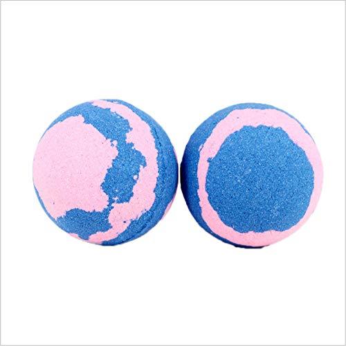 6pcs Bombas de baño Sales de baño de burbujas Bola Aceite esencial Hecho a mano SPA Alivio del estrés Exfoliante;