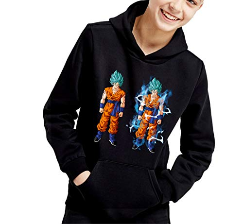 The Fan Tee Sudadera de NIÑOS Dragon Ball Goku Vegeta Bolas de Dragon Super Saiyan 069 12-13 años