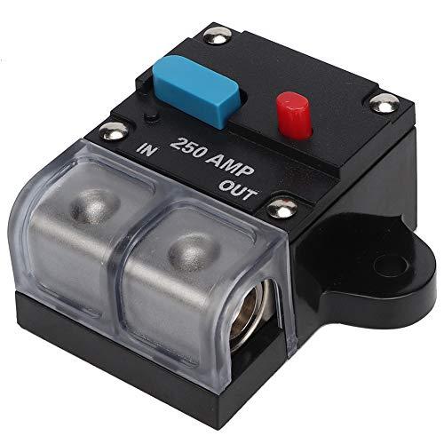 Yagosodee - Disyuntor rearmable autorecuperación fusible de coche manual botón de restablecimiento (250 A)
