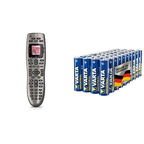 Logitech HARMONY 650 Universalfernbedienung, Ersetzt bis zu 8 Fernbedienungen, Hintergrundbeleuchtete Tasten, Farbdisplay, Einfache Einrichtung, Unterstützt mehr als 5.000 Gerätemarken - schwarz