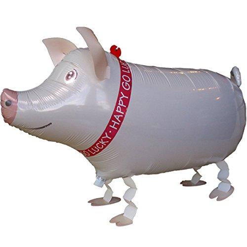 partydiscount24 Folienballon Schwein - Airwalker mit Helium gefüllt - 62 cm