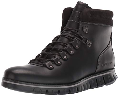 Cole Haan Men's Zerogrand Hiker Waterproof Hiking Boot, Wp Black Leather, 11.5 M US