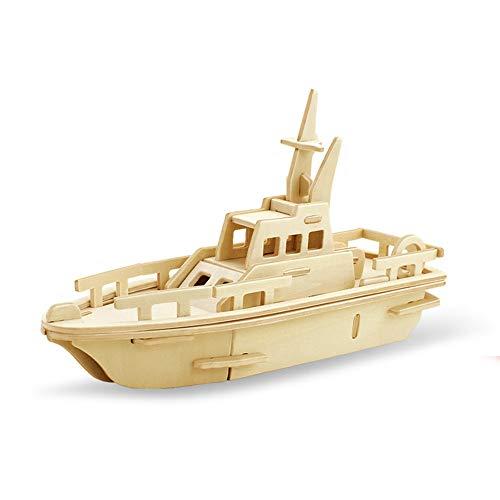 Georgie Porgy 3D Holz Puzzle rettungsboot Modell holzhandwerk Baukasten Kinder Spielzeug (jp294 rettungsboot 34 stücke)