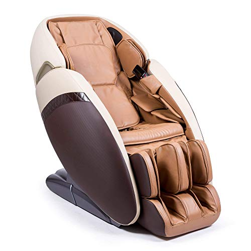 SAMADHI 3D Massage Chair - Brown (2021 New Model) -'Zero' Gravity and'Zero' Space Technology - 6 Professional Massage Modes - Oxygen Ion Generator - Bluetooth 3D Sound - USB