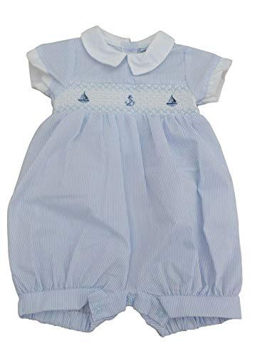 BNWT - Mameluco de verano para bebé, color azul o blanco