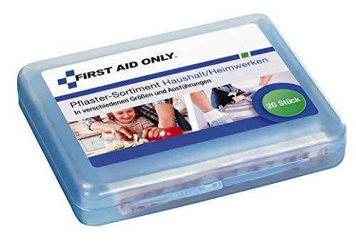 First Aid Only Pflaster-Sortiment, 20 Stück, Haushalt/Heimwerken, verschiedene Größen und Ausführungen, P-10022