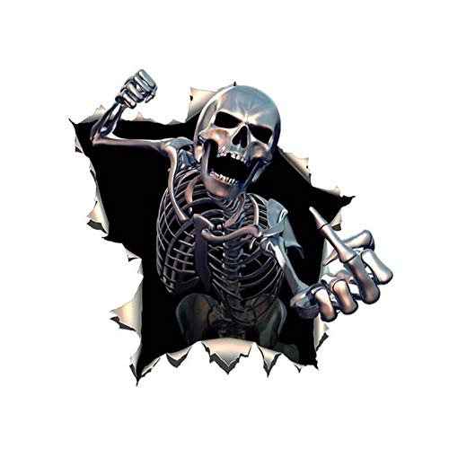 Car Sticker Personalized Decals Middle Finger 3D Death Skull Rush Out Vinyl Waterproof Car Styling