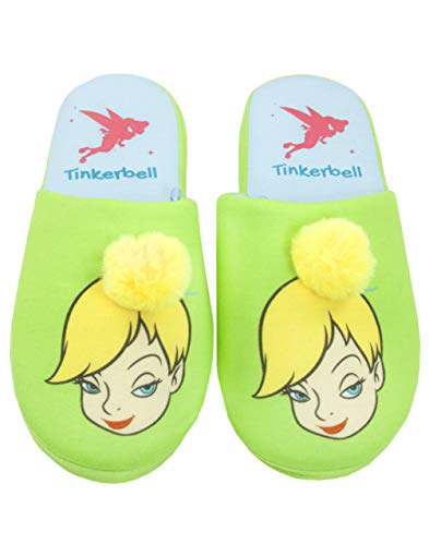 Disney Peter Pan Tinkerbell Fairy Partial 3D Women's Novelty Slippers Green