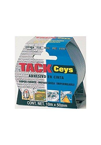 Ceys M82194 - Cinta americana tackceys gris 10 metros