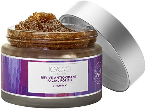 Natural Antioxidant Facial Polish and Exfoliator:  Experience a Reduction in Wrinkles, Fine Lines and Protect Against Free-Radical Damage from Sun Exposure   Packed with Vitamin C Contained in Blueberries and Cranberries by Jovovo Naturals