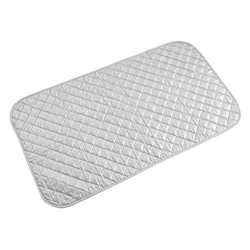 Strijkmat voor Thuis - 1 Pc Portable Opvouwbaar Hittebestendige Katoenen Strijkmat - Wasmachine Zilver Waskussen Thuisgebruik Nieuw - Geschikt Kabinet, Bed Board en Bureau(W)
