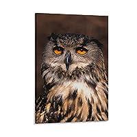 フクロウポスターデコレーション絵画リビングルーム壁画キャンバスプリントウォールアートデコレーション画像20×30インチ(50×75cm)