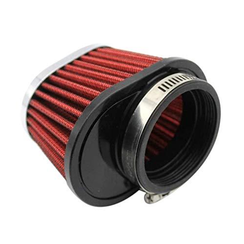 Flowing CHENZHEN 1 UNIDS Filtro de Aire de Motocicleta cónico Redondo Universal 51mm de 2 Pulgadas Filtro de Ingesta-Rojo CZ (Color : Red)