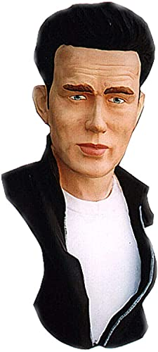 Busto James Dean Estatua escultura, decoración de mesa, pintado a mano, diseño artístico