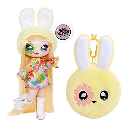 MGA Entertainment Na! Na! Na! Surprise 2-in-1 Fashion Doll and Plush Purse Series 4 – Bebe Groovy