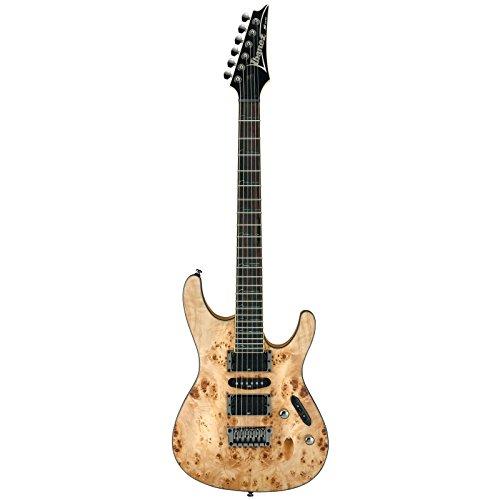 Ibanez S771PB-NTF E-Gitarre (Mahagoni Korpus, Pappel Decke, Palisander Griffbrett, D'Addario Saiten, Abalone Wave Inlays) Natural Flat