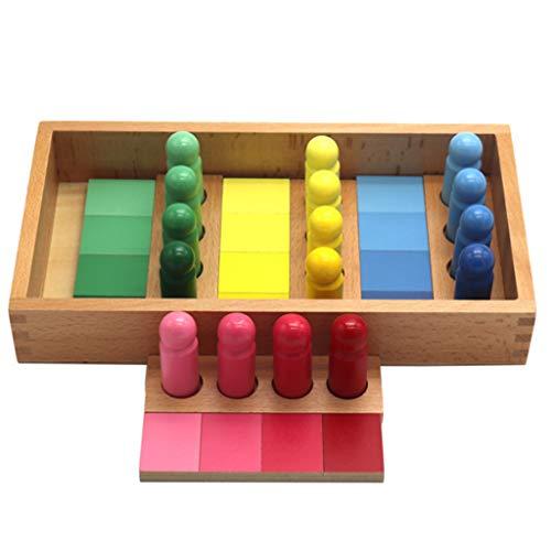 planuuik Montessori Gradient Color Similarity Sorting Match Game Madera Kid Sensorial Toy