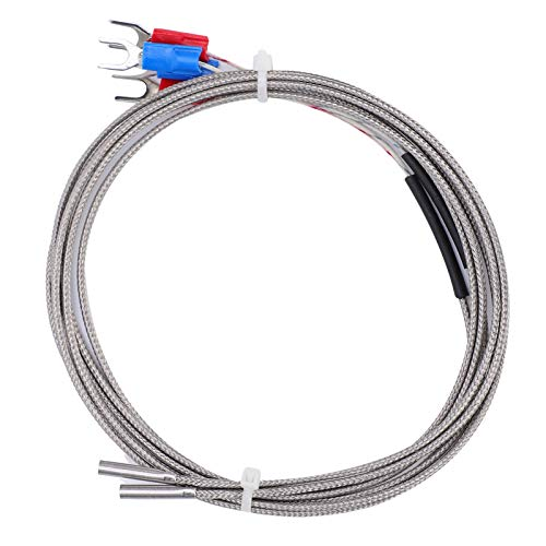 K‑Type Thermocouple,4Pcs 3D Printer Accessories Nickel-Chromium Alloy Thermistor Temperature Sensor 3x15x1000,Good Thermal Conductivity Easy to Carry and Store