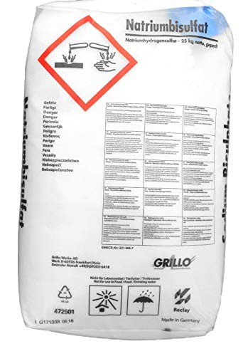 well2wellness Natriumbisulfat - pH Senker Granulat im 25 kg Sack
