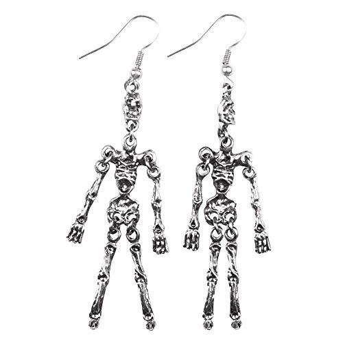 Orecchini scheletro Skeleton in metallo