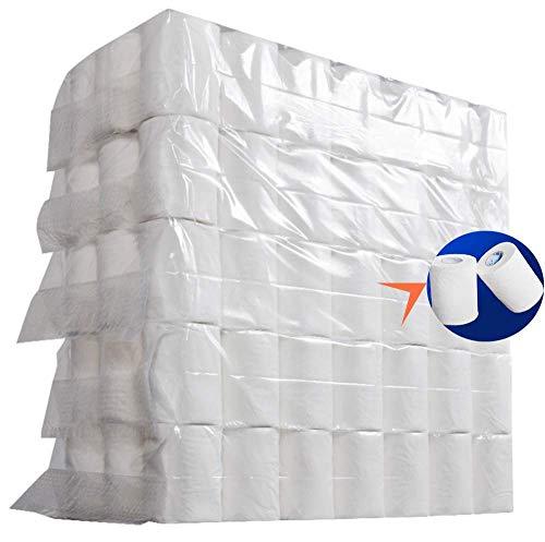 105 Rollen Toilettenpapier Papier Luxus Toilette Kinder Wc-Papier Klopapier Papiertücher Servietten Premium Natürlich Taschentücher Großpackung 4-Lagig Papprollen Rollenpapier Badezimmer Hotelküche