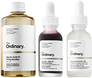 Best The Ordinary 3 Bottles Face Serum Set! Peeling Solution, Hyaluronic Acid And Glycolic Acid! AHA 30%+BHA 2% Peeling Solution! Hyaluronic Acid 2%+B5! Glycolic Acid 7% Toning Solution Review