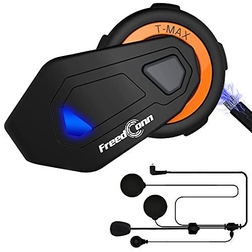 ILM Motorcycle Bluetooth Headset 6 Riders 1000M Helmet Communication Intercom System Hard Soft Cabel...