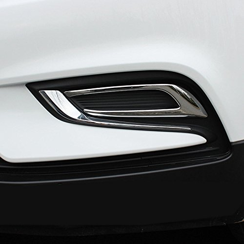 CarAutotrim Für Mokka X 2017-2019 ABS Chrom Vorne Nebelleuchten Abdeckungskreise 2 Stück