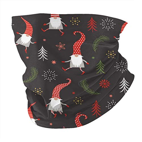Face Mask Bandanas For Men Women Cute Christmas Gnomes In Red Hats Print Half Face Neck Gaiter