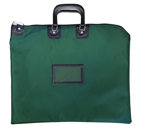 Locking Document HIPAA Bag 16 x 20 with Handles (Forest Green)