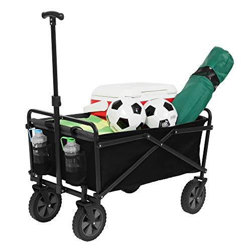 Seina Manual 150 Pound Capacity Heavy Duty Folding Utility Cart, Black/Gray