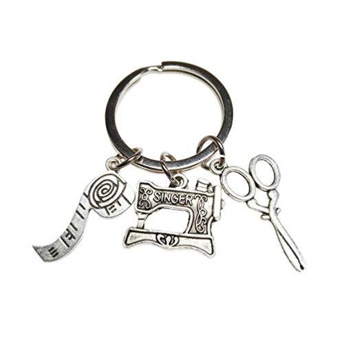 Toyandona Schere Schlüsselanhänger Lineal Design Schlüsselring Kreative Designer Hängedeko Retro Schlüsselanhänger für Auto Schlüsseltasche Handy