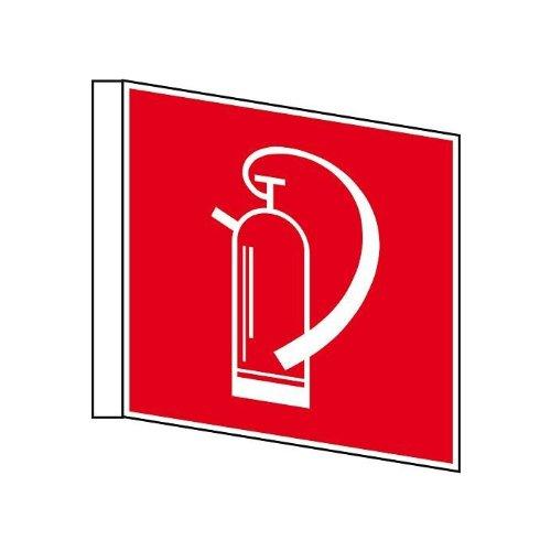 Brandbeveiligingsteken brandblusser vlag kunststof rood/wit 200x200 mm