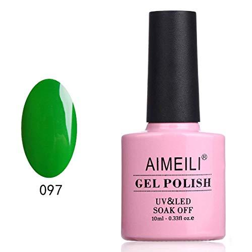 AIMEILI UV LED Gellack Gel Nagellack Grün Gel Nail Polish - Candy Green Castle (097) 10ml