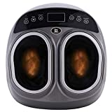 Shiatsu Foot Massager Machine with Heat - Deep Kneading Rolling Feet Air Compression Pressure Bag Relief Home Tired Legs Plantar Increase Blood Flow Circulation