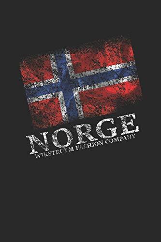 Wikstroem - Notes: Norwegen Fahne Norge used look - Monatsplaner 15,24 x 22,86