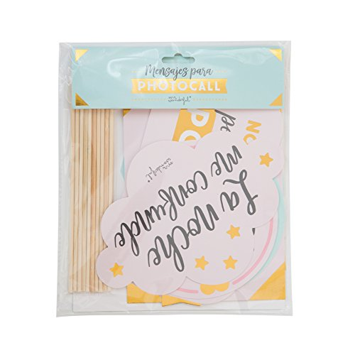 Mr; Wonderful Woa08938Es Accesorios Mr; Wonderful Para Photocall - Mensajes, 20X0.5X31 Cm
