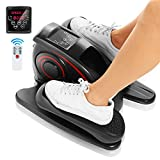 ANCHEER Under Desk Elliptical for Home Workout, Pedal Bike Exerciser, Electric Under Desk Elliptical Machine Trainer with Built in Display Monitor Quiet & Compact Exercise Equipment for Office Gym