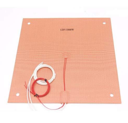 WNJ-TOOL, 1set 120/220V 1000W siliconenverwarming verwarmd bed 400x400mm voor Creality CR-10 S4 3D-printer siliconenverwarming matrasbed met gaten