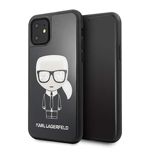 Karl Lagerfeld Doppelschichtige Schutzhülle für iPhone 11, Schwarz