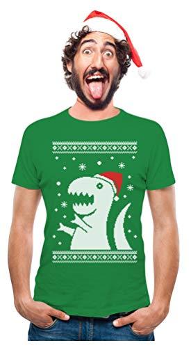 TeeStars - Big Trex Santa Ugly Christmas Sweater - Funny Xmas T-Shirt Medium Green