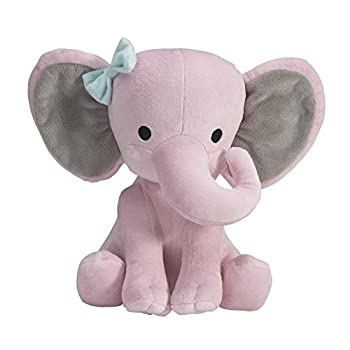 Bedtime Originals Twinkle Toes Pink Elephant Plush Hazel