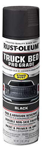 Rust-Oleum 272741 Automotive Professional Grade Truck Bed Coating Spray, 15 oz, Matte Black