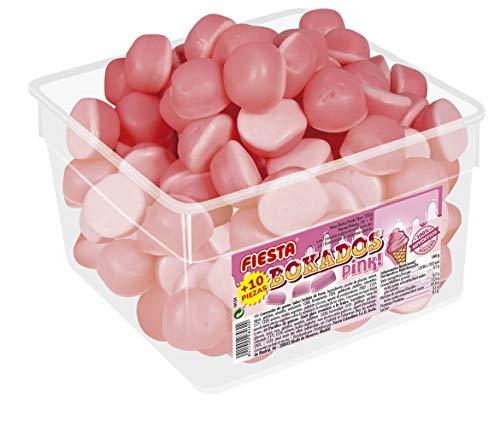 FIESTA Bokados Pink Golosinas con Relleno Blando Sabor Helado de Fresa - Envase de 146 unidades