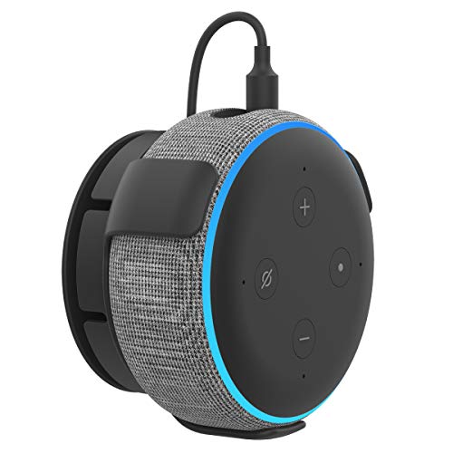 AhaStyle Echo Dot用 壁掛け ホルダー エコードット用ホルダー Echo Dotアクセサリー スピーカー スタンド Alexa マウント 保護ホルダー コード収納 (黒)