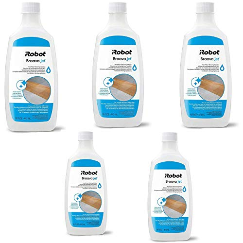 iRobot Authentic Replacement Parts- Braava Jet Hard Floor Cleaning Solution, Compatible with All Braava Robot Mops (5 Pack)
