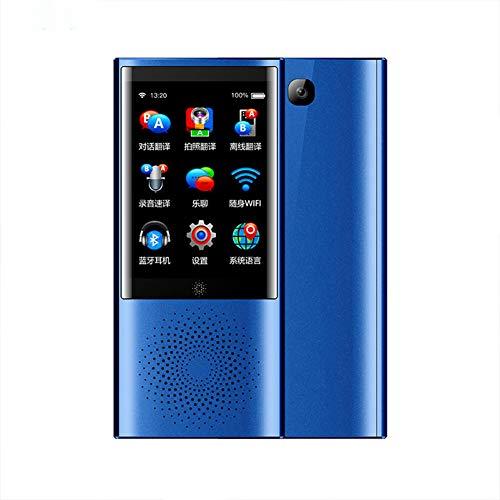 YJCol Voice Translator, Sprachübersetzer mit Kameraübersetzung, Unterstützung für 77 Sprachen SIM-Karte / 4G / WiFi/Offline / 8 GB Speicher Sofortübersetzung mit 2,8 Zoll Touchscreen,Blau